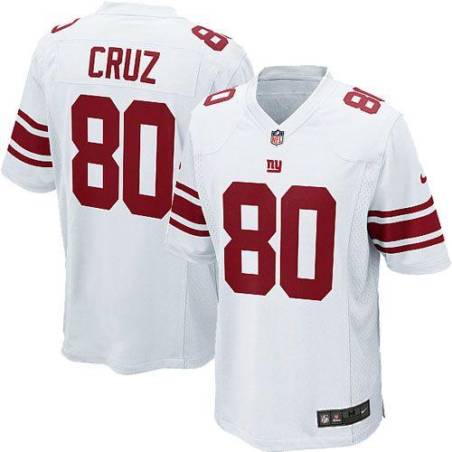 Nike Elite Mens New York Giants #80 Victor Cruz Team White NFL Jersey  $129.99