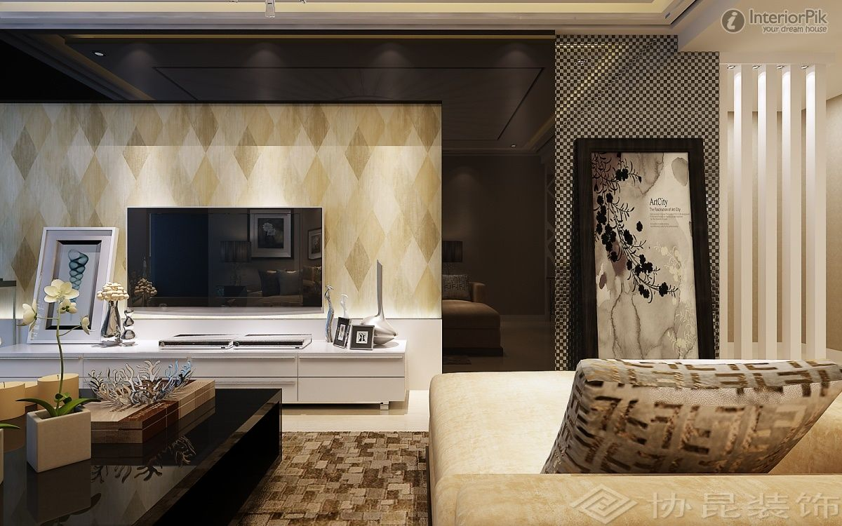 Modern Minimalist Living Room Wallpaper Tv Background Wall