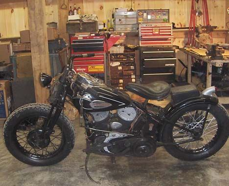Photo of 1940 Harley Davidson WLD 45 Flathead Racer Motorcycle by Mark.