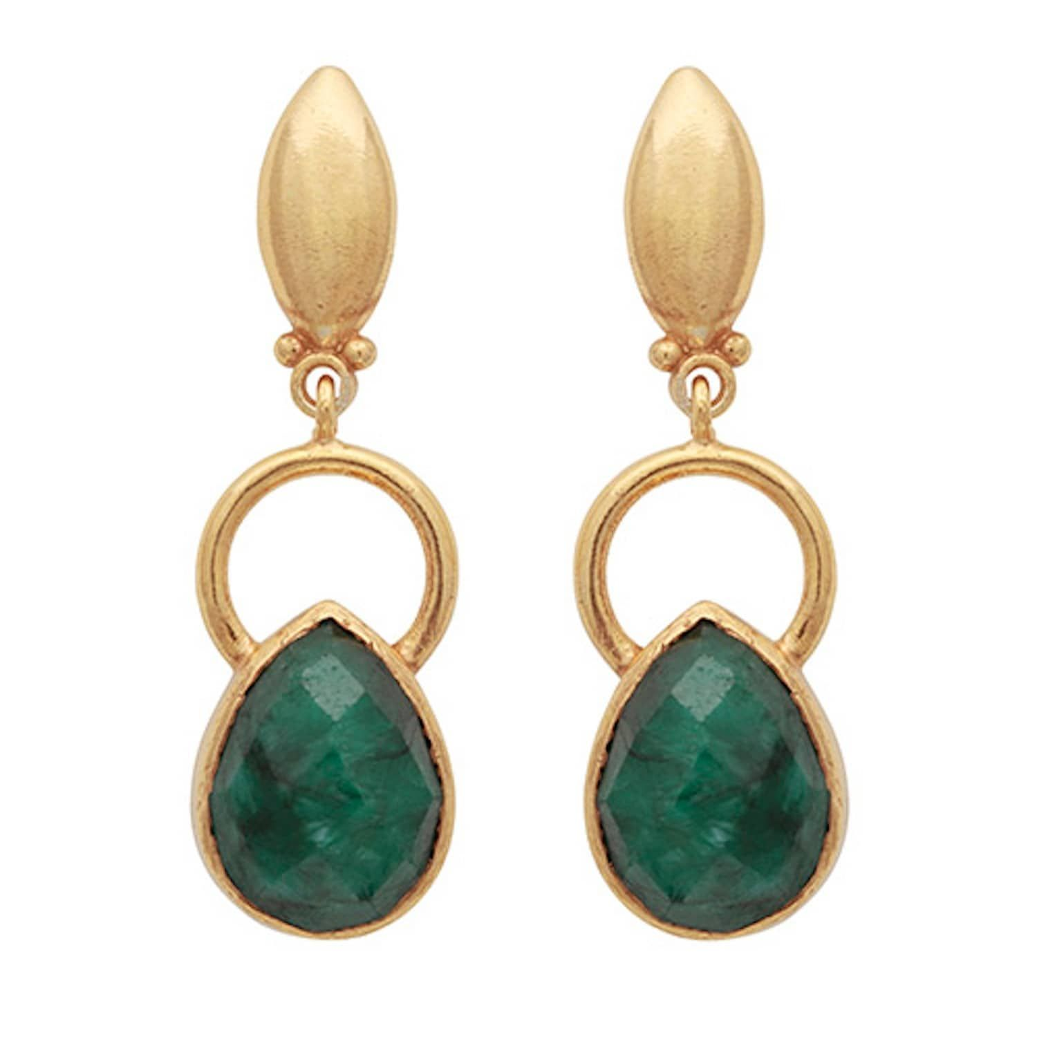 product diamond carved classic kastur and earrings emerald jewels natural drop