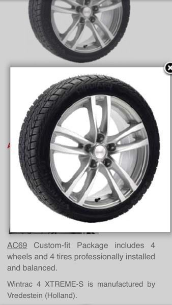 Winter Package Tires On Wheels For Acura RDX Available To - Acura rdx tires