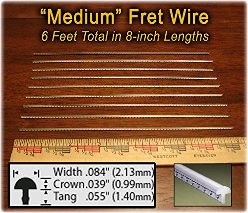 Guitar Fret Wire Standard Mediummedium Size Nickel Silver Six Feet Check This Awesome Product By Going To The Lin Cigar Box Guitar Box Guitar Tenor Guitar