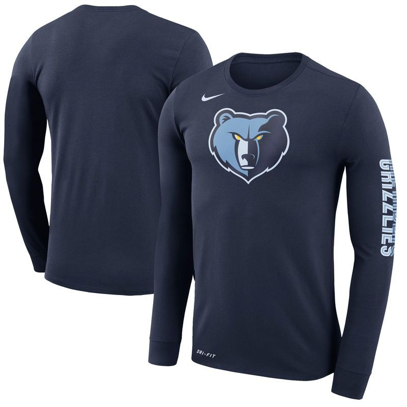 Memphis Grizzlies Nike Logo Long Sleeve T-Shirt – Navy in 2018 ... d15e29426