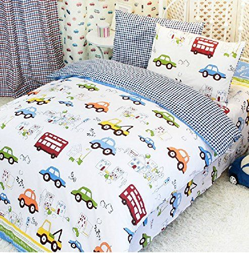 fadfay home textilecars bedding queen sizetrain bedding setscute kids bedding