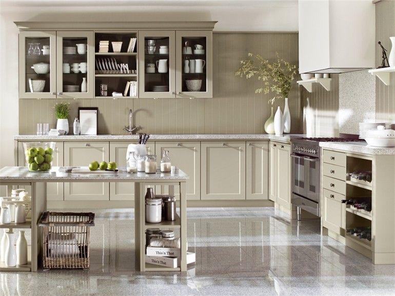 Küche aus Holz im Country Stil XL 5182 by Ballerina-Küchen HE - kche mit kochinsel landhausstil