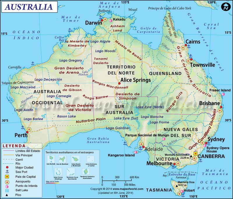 Mapa de australia australia mapa de australia gumiabroncs Image collections