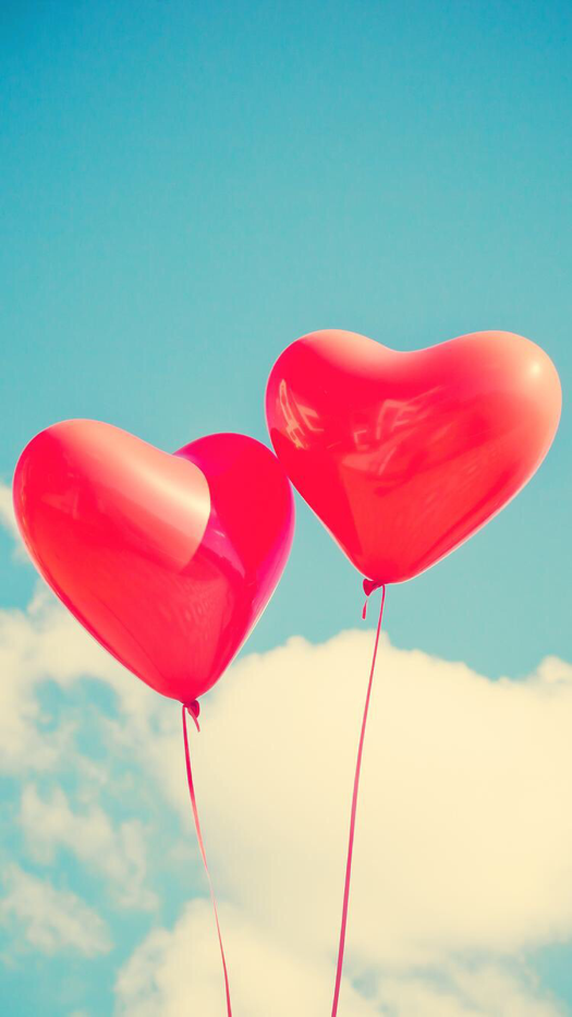 Heart Balloons Iphone Wallpaper