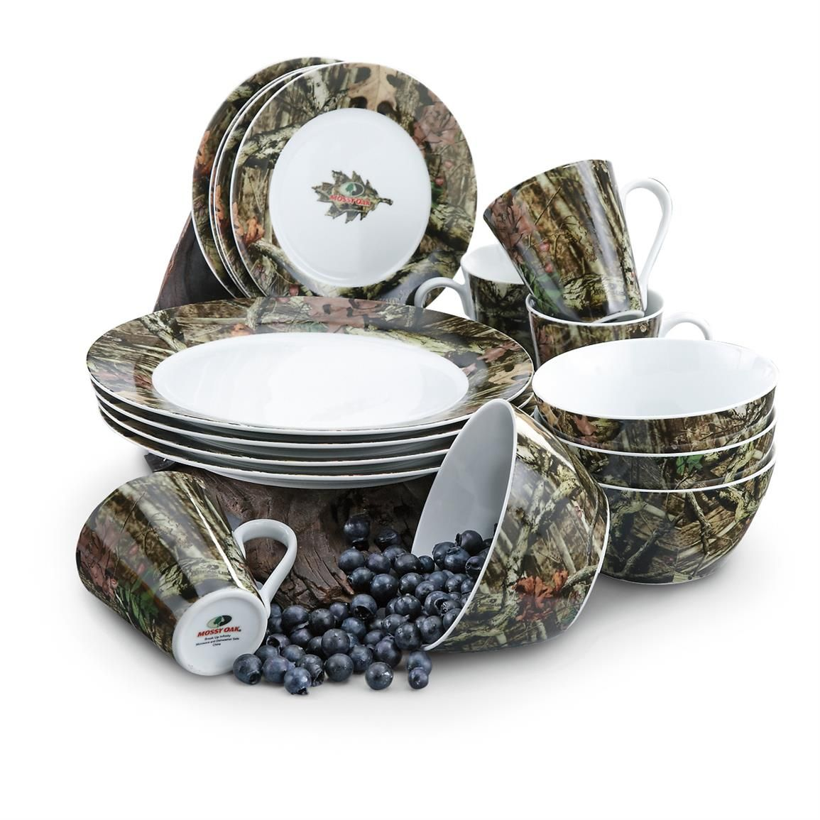 16-Pc. Mossy Oak® Porcelain Dinnerware Set  sc 1 st  Pinterest & 16-Pc. Mossy Oak® Porcelain Dinnerware Set | kitchen | Pinterest ...