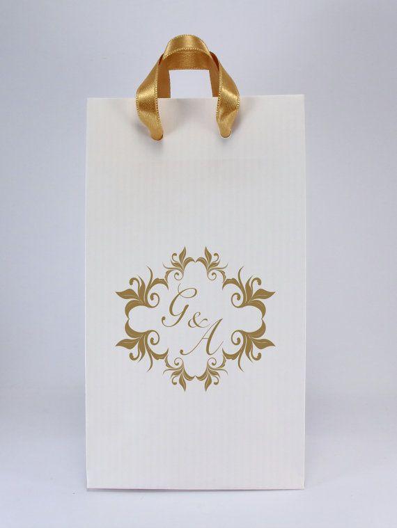 Custom Wedding Favor Bags With Satin Handles 100 Unique