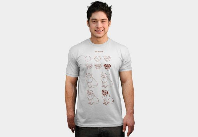 T Shirt Design Line Art : How to draw pug life do famous line art t shirts pinterest