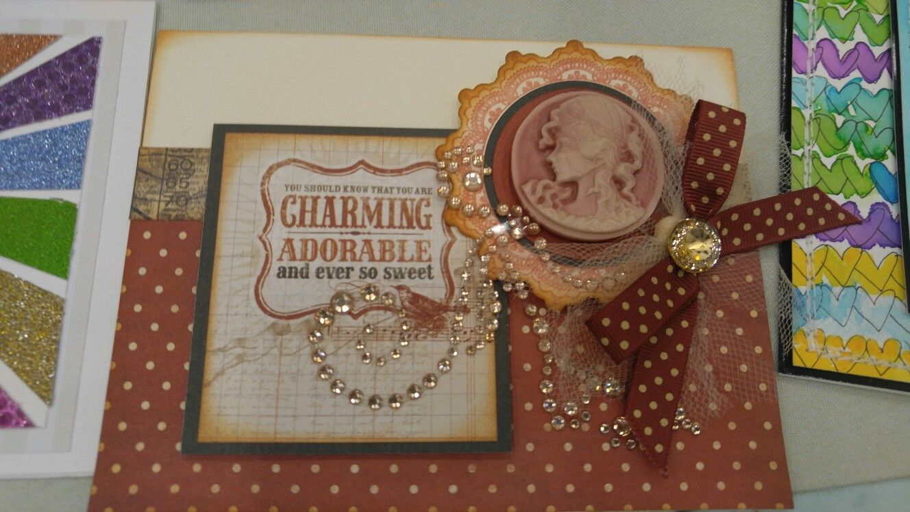 Card With Bling At Scrapbooking Expo Paper Crafting Pinterest