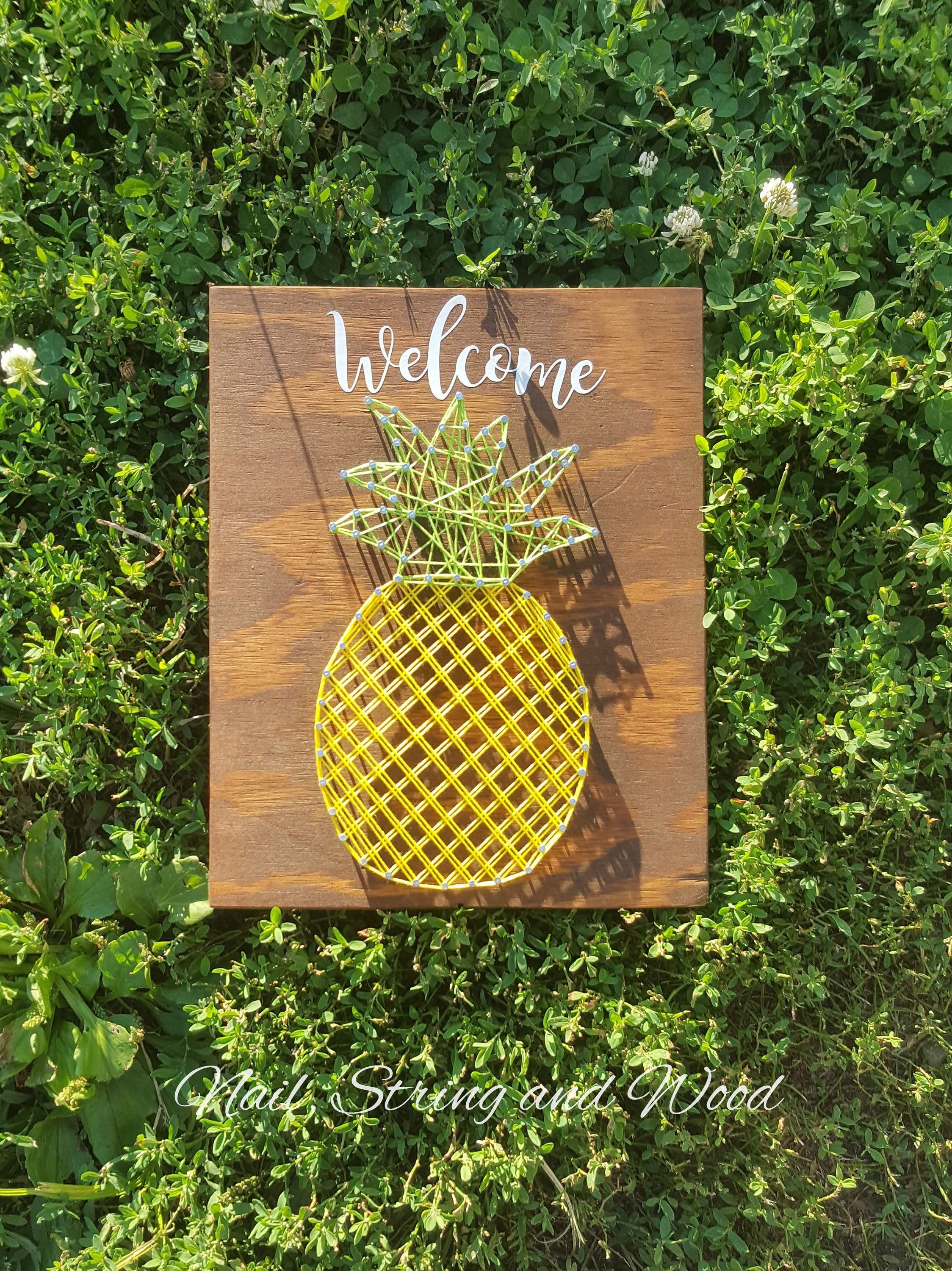 Pineapple String Art- Pineapple Sign -Wall Decor- Welcome Pineapple ...