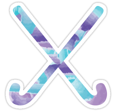 Field Hockey Watercolor Stickers By Michaela Schmidt Redbubble Hockey Palos De Hockey Pegatinas