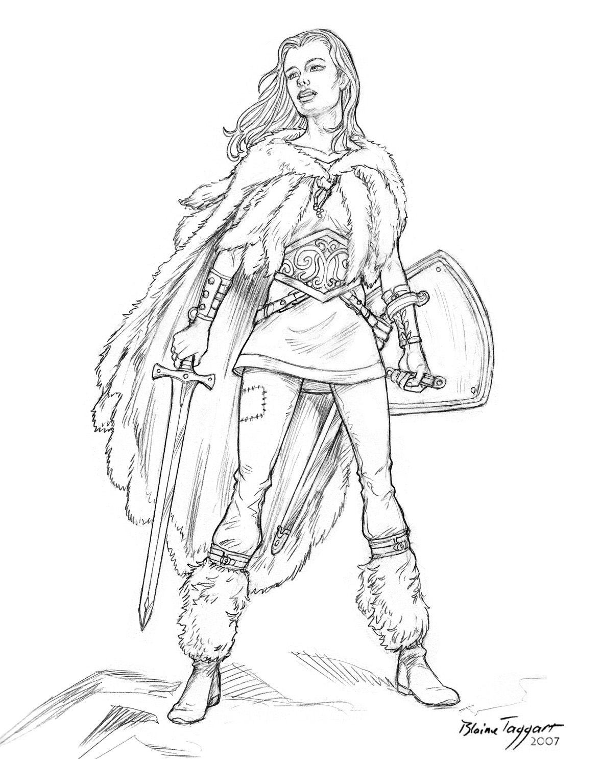 Resultado de imagen de guerrera dibujo  Ideas  Pinterest  Searching