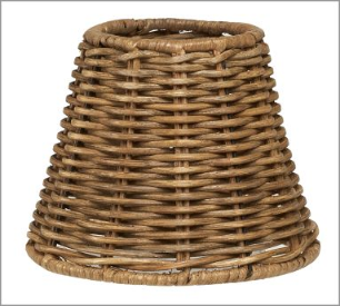 Woven Wicker Chandelier Shade