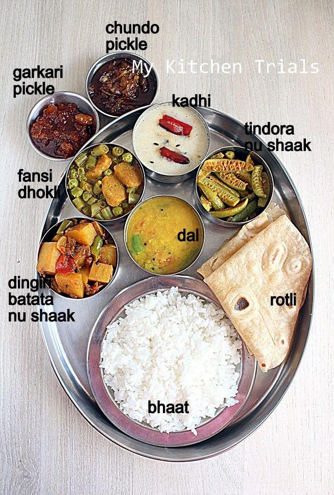 Gujarati Thali Mini Gujarathi thali Indian food