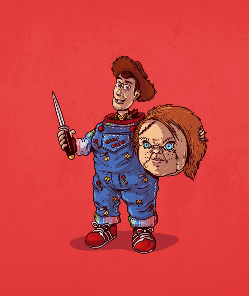 Cartoon Characters Unmasked : Icons unmasked alex solis mashup pinterest chucky