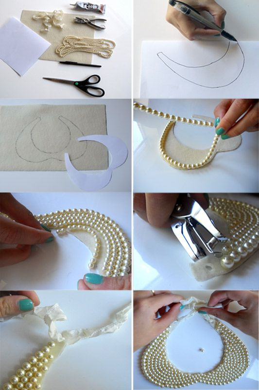 Because Im Addicted Diy Pearl Collar Necklace Pearls Diy Diy Necklace Making Jewelry Crafts