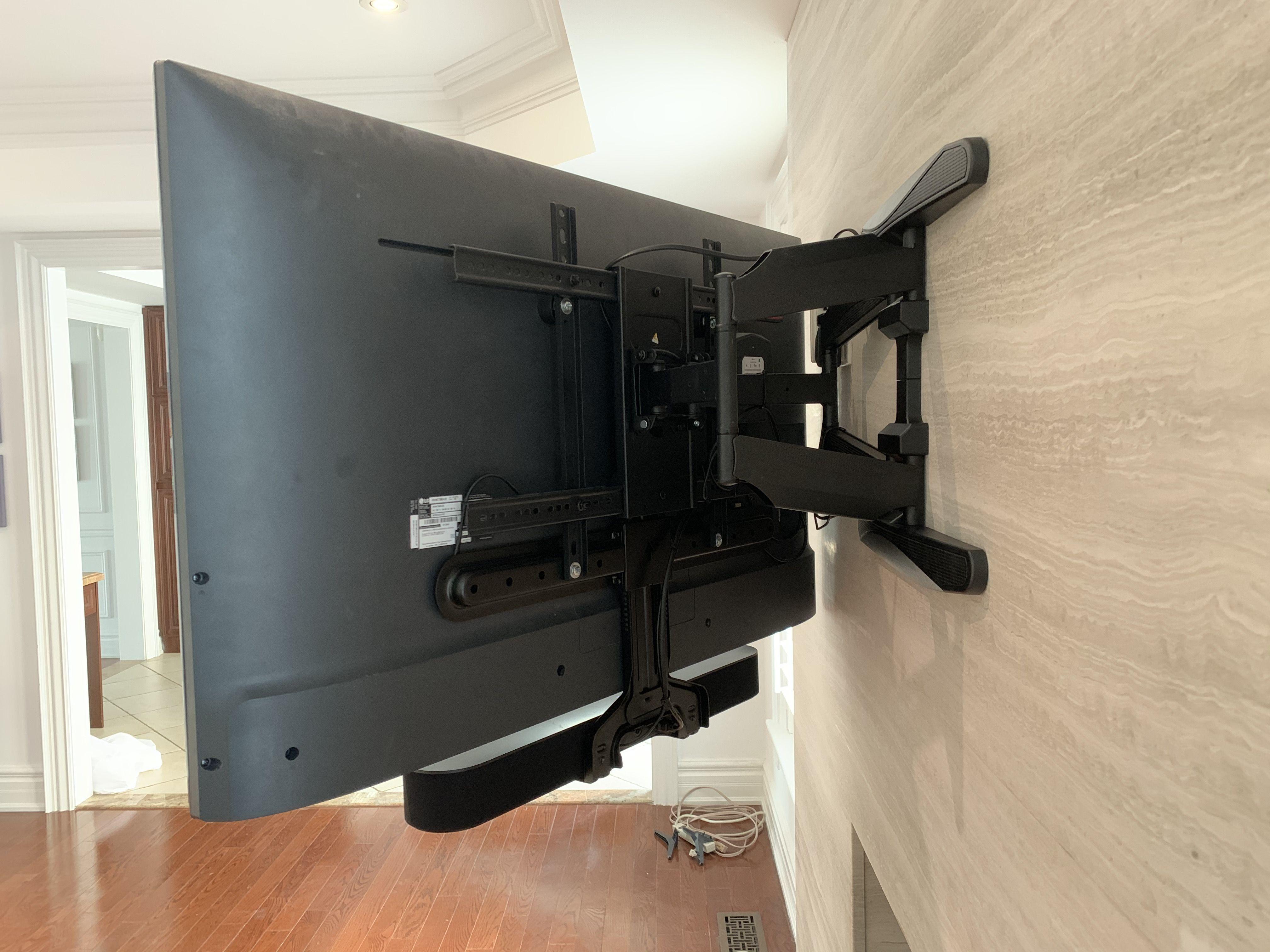 sonos beam mounted with sanus soundbar