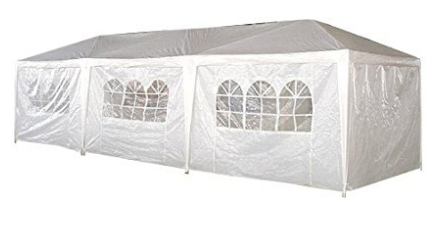 Palm Springs 10 X 30 Foot White Party Tent Gazebo Canopy With Sidewalls Canopy Tent Party Tent Gazebo Canopy