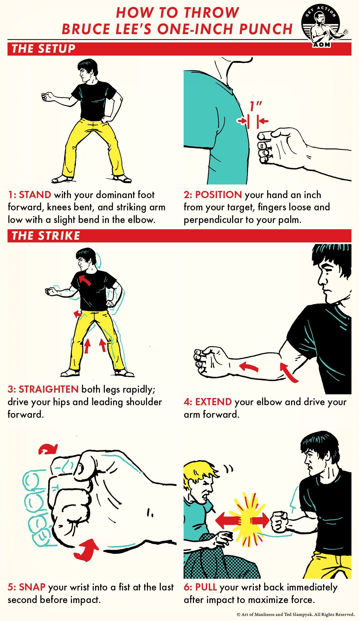 how to throw bruce lee s 1 inch punch martial arts workout self defense moves self defense martial arts