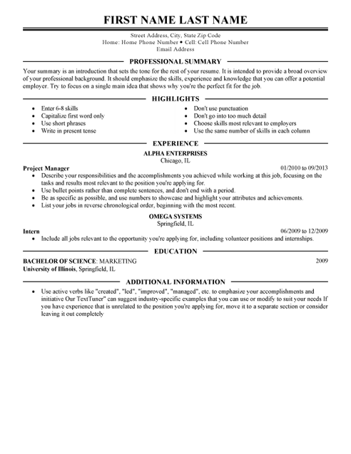 Perfect Resume Template Resume Builder Livecareer Doc Example Examples Free Cover Letter