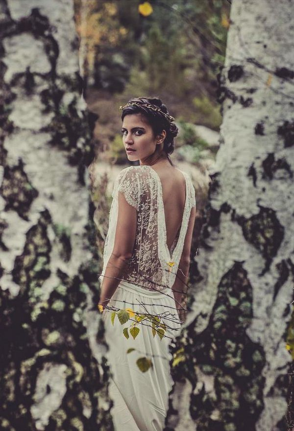 Woodland & lace., no place to wear it, but it's lovely...