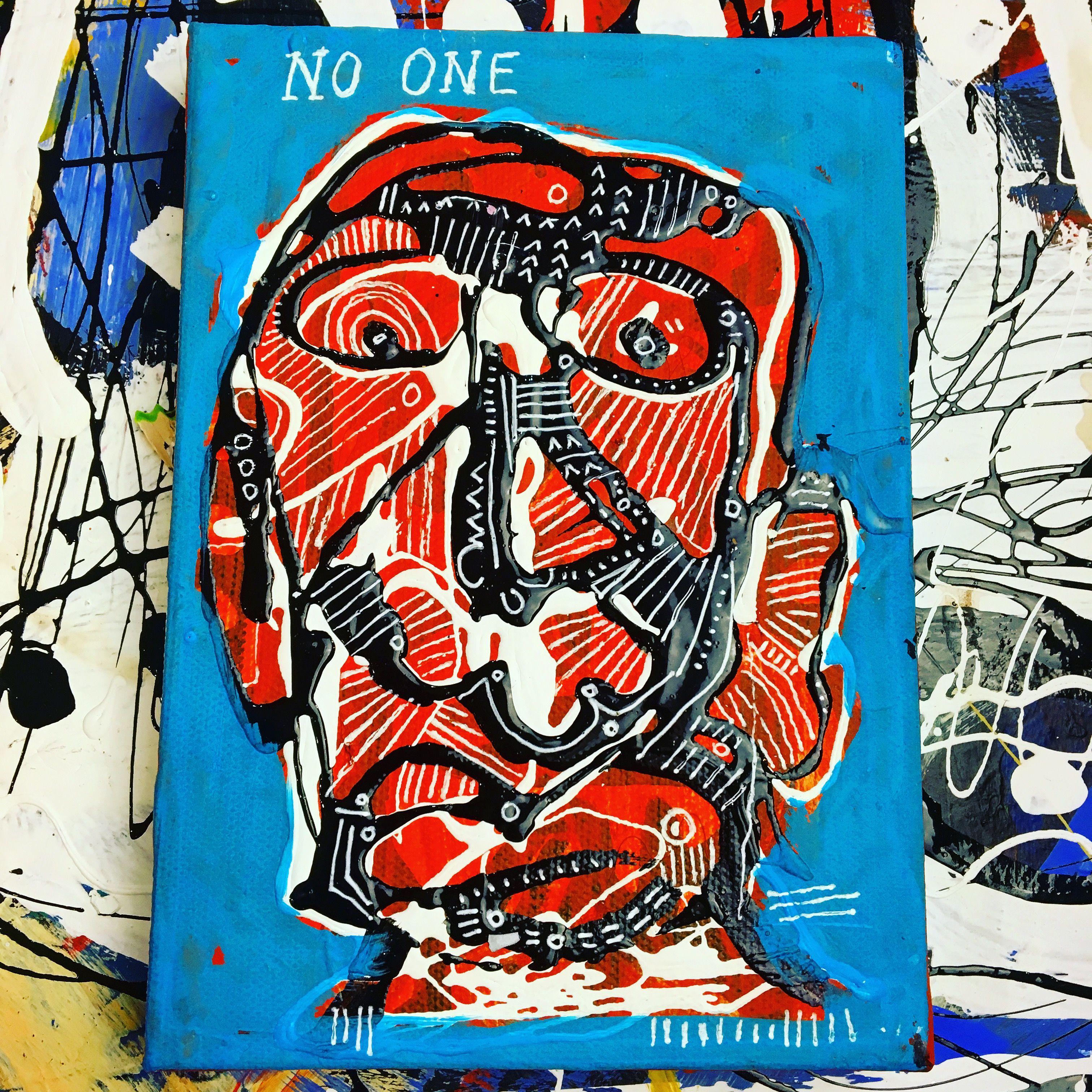 No One 8x12 Acrylic On Canvas By Anton Vitkovskiy Nyc Art Expressionist Artists Art