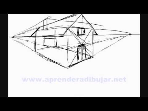 Dessin de maison en perspective - Comment Dessiner - YouTube ...