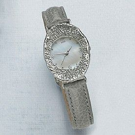 Leather Strap Watches. Buy Grey Dawn Watch from Pia Jewellery