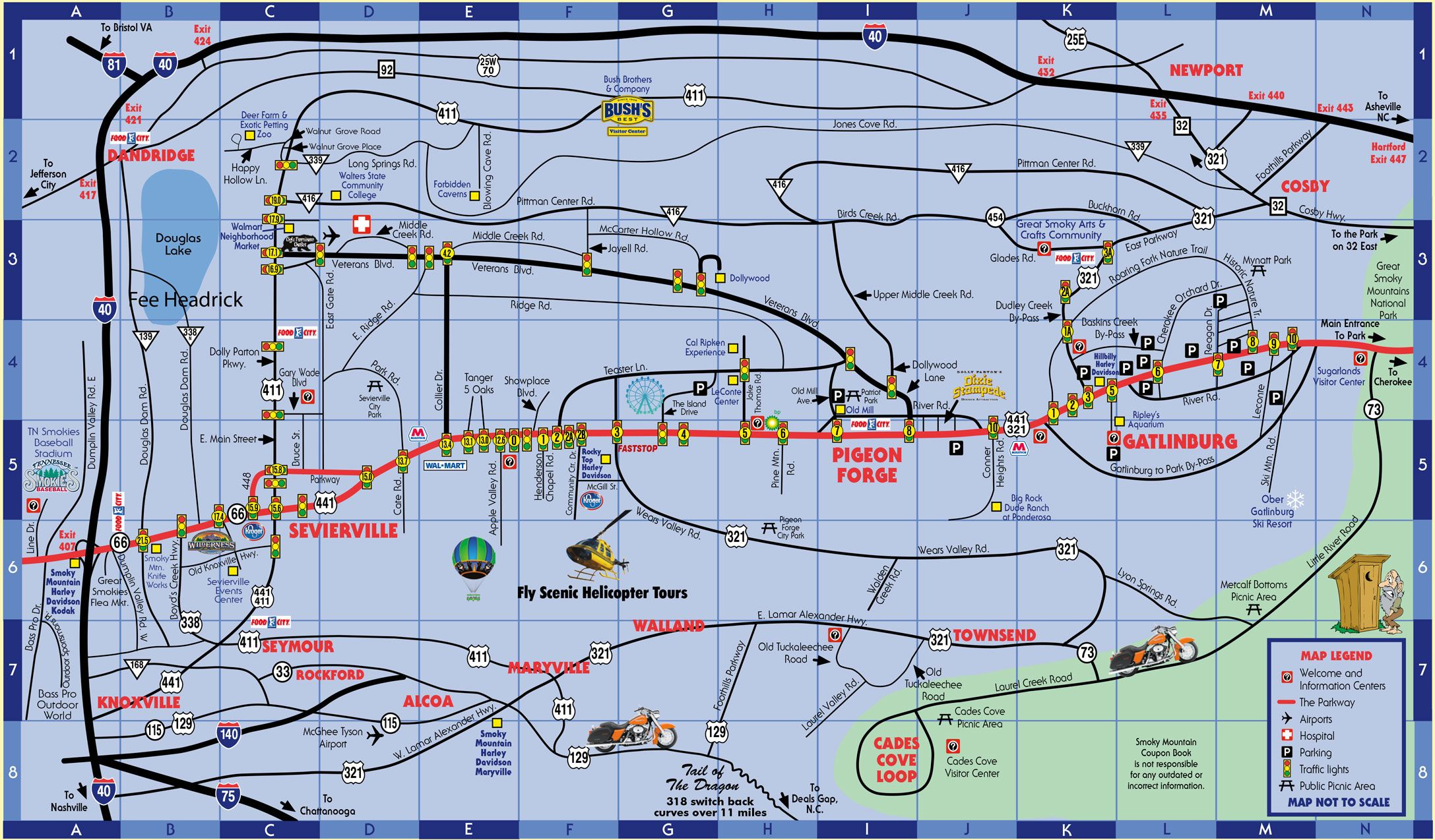 pigeon forgegatlinburg map  pigeon forge coupons from the smoky mountaincoupon book. smokymountaincouponbookcom pigeonforgegatlinburgmap  pa trip