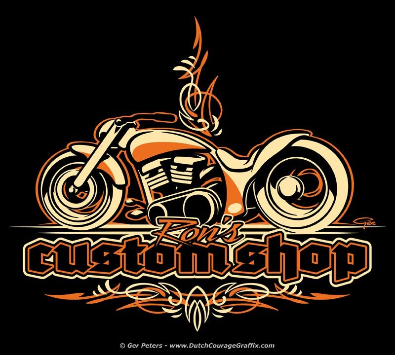 Logo Work For Ron S Custom Shop Custom Harley Davidson
