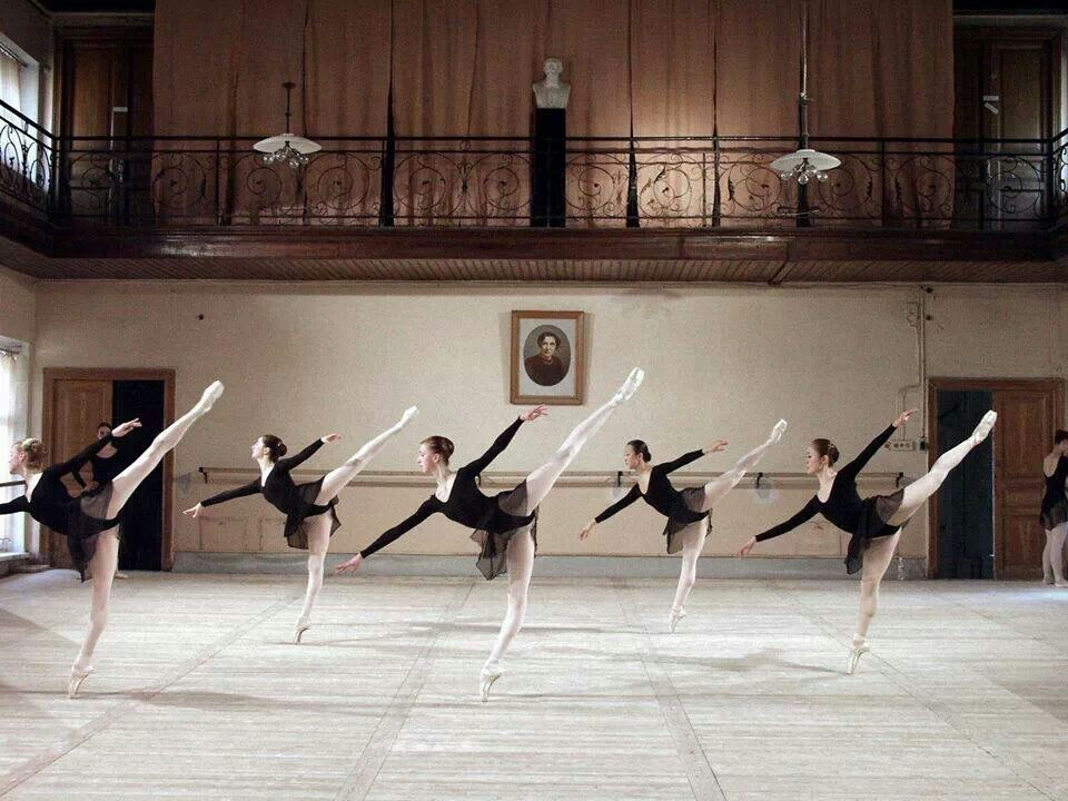 afbc2c2e9 class with Elena Vostrotina (in the center) at the Vaganova Ballet ...