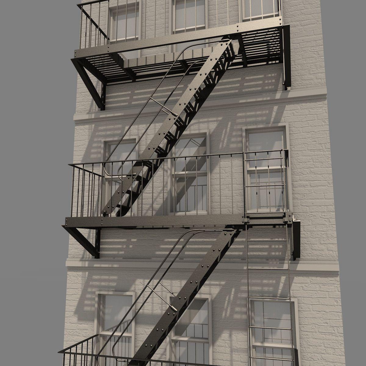 Great Fire Escape Ladder. | ALEKSANDR STIKHIN PHOTOGRAPHY (astikhin) | Zozo Inspo  | Pinterest | Fire Escape
