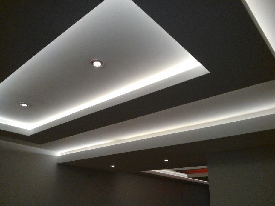 Fotos pladur y falso techo plafones techo de dos for Plafones techo modernos