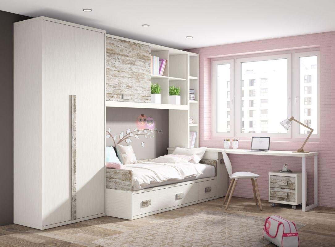Junior room dormitorio juvenil cat logo up16 junior room habitacion juvenil - Dormitorios juveniles chicas ...