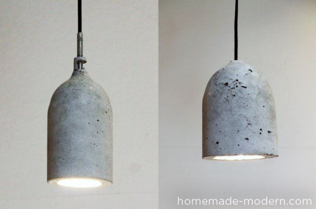 How To Make Your Own Designer Concrete Pendant Lamp Lamparas Colgantes Como Hacer Una Lampara Lampara Colgante De Madera