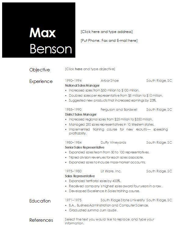 Resume Templates 2013 Open Office Sample Resume Templates