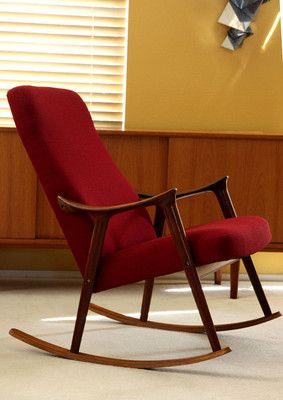 Danish Rocking Lounge Chair Teak Mid Century Modern Eames Westnofa Hans Wegner Danish Modern Living Room Chair Design Mid Century Modern Chair