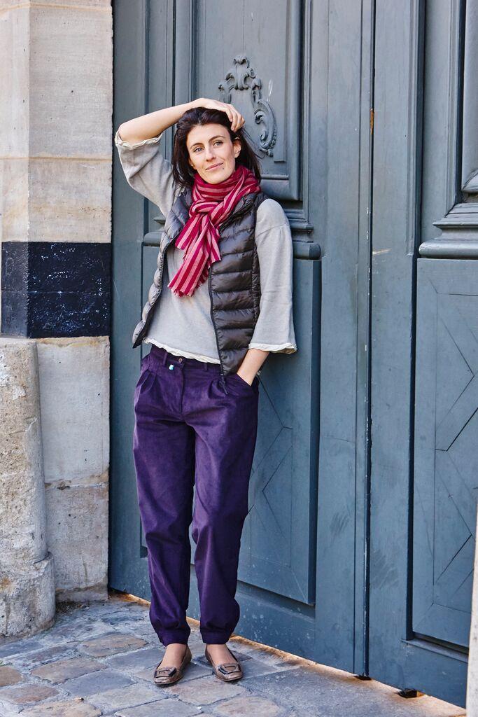 Bombachas de Gaucho pour Femme velours aubergine. Paris winter fashion. Le  pantalon argetin.