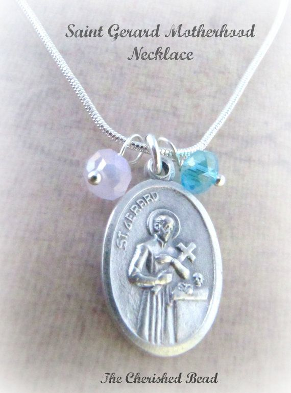 Saint gerard patron saint pregnancy childbirth motherhood necklace saint gerard patron saint pregnancy childbirth motherhood necklace reversible our lady of perpetual help aloadofball Image collections