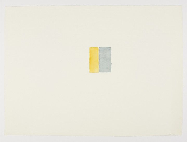 Callum Innes / Watercolour on Fabriano Roma paper,  66 x 48 cm
