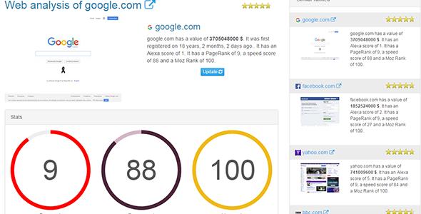 Worthy - site evaluator | PSD Templates | Social media