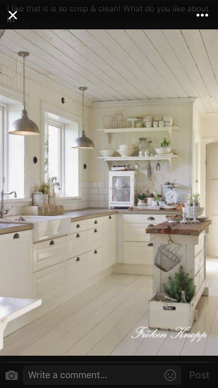 Love the ceiling and lights | Kitchen ideas | Country ...