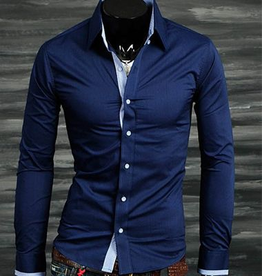 Midnight Blue Dress Shirt | Dress Shirts | Pinterest | Dress ...