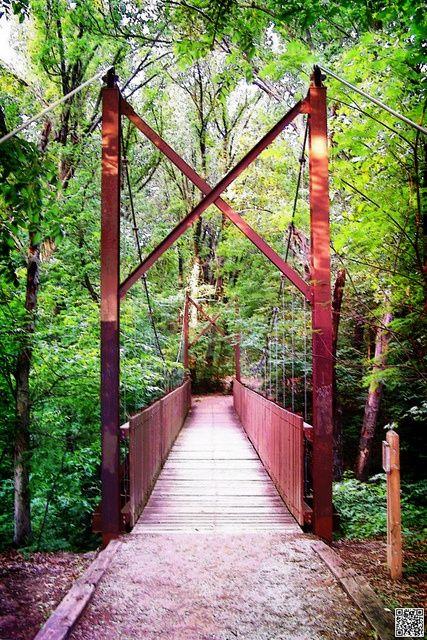 Bridge in Ray Harral Nature Park in Broken Arrow, OK by Do