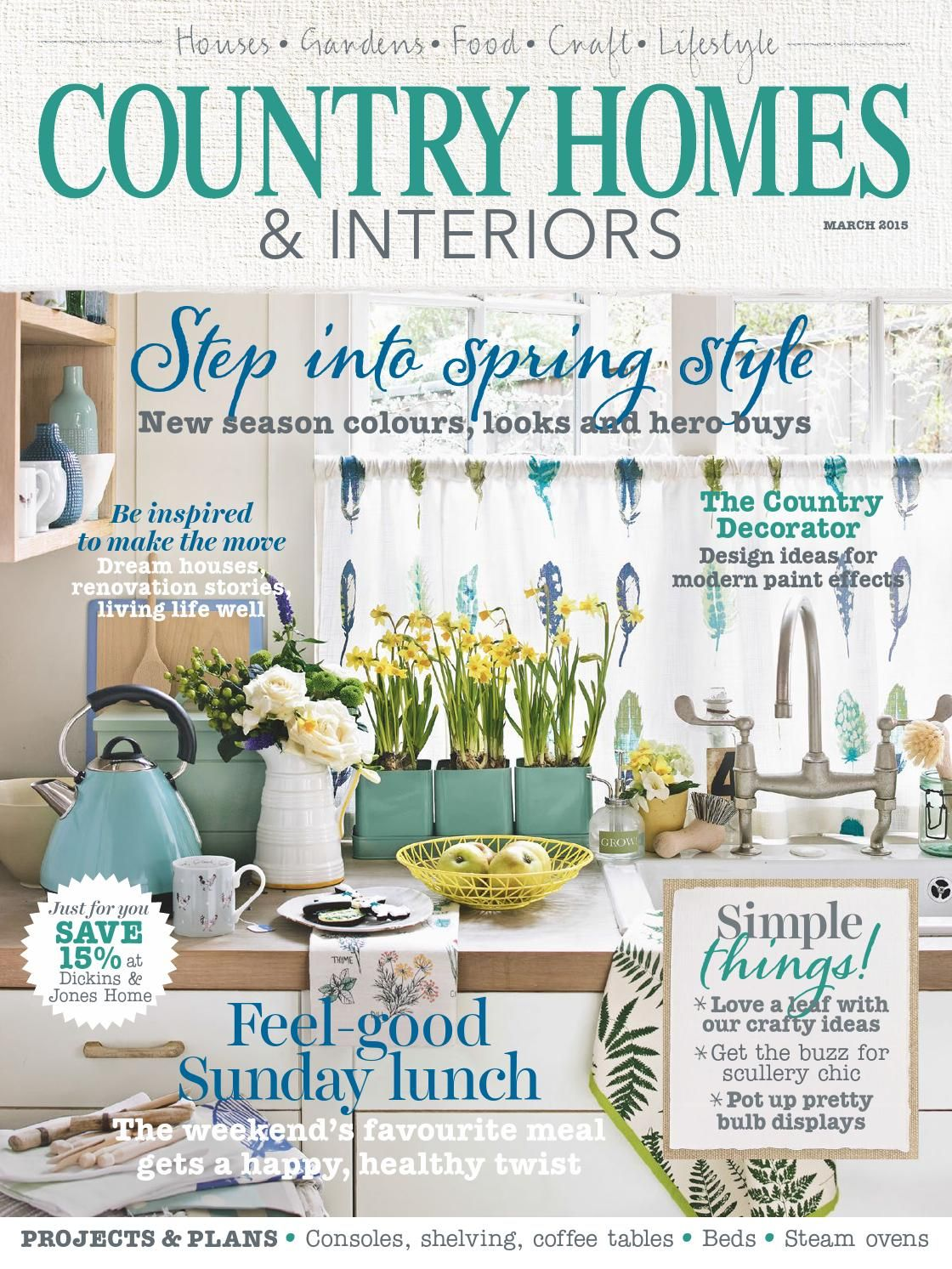 country homes interiors march 2015