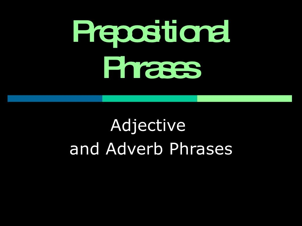 Prepositional Phrases Powerpoint By Diana Koscik Via