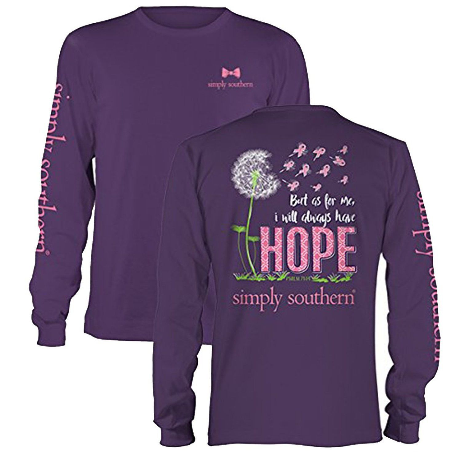 0322f1f3 Simply Southern I Will Always Have Hope Psalm 71:14 Long Sleeve T-shirt