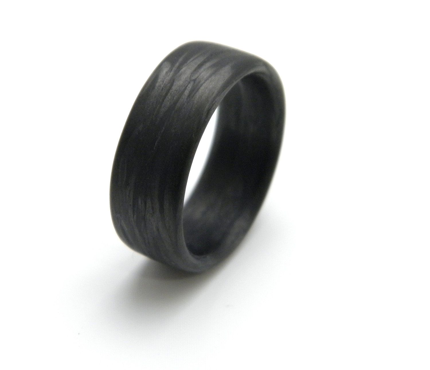 titanium set black wedding and unique fiber resistant bands hypoallergenic modern carbon water of two rings pin